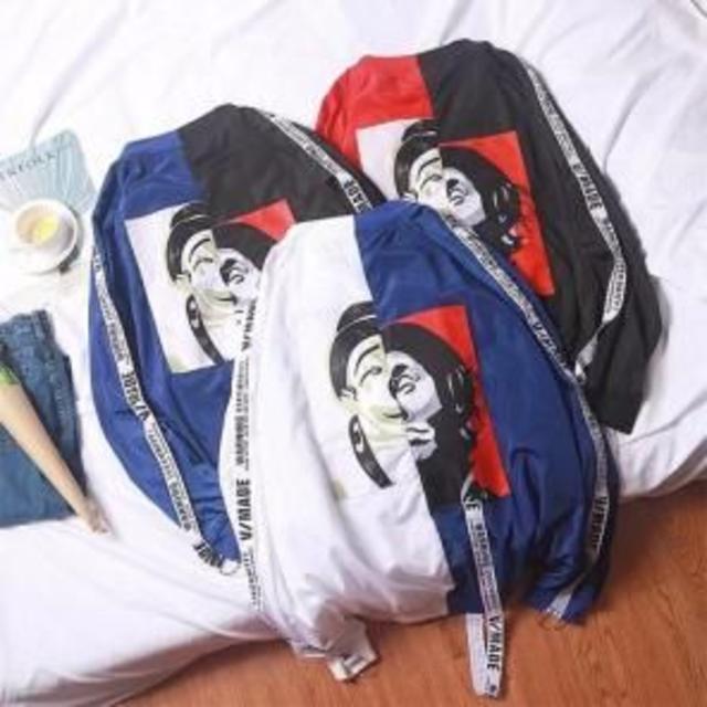 【最安値♥】ピエロジャケット MA-1 韓国 ストリート系 オルチャン 白/青 レディースのジャケット/アウター(ブルゾン)の商品写真