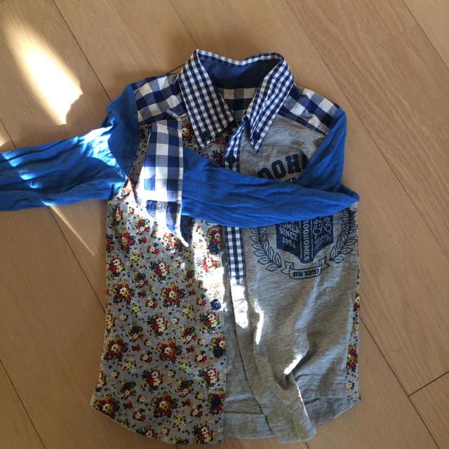 BOOFOOWOO(ブーフーウー)の長袖シャツ キッズ/ベビー/マタニティのキッズ服 男の子用(90cm~)(ブラウス)の商品写真