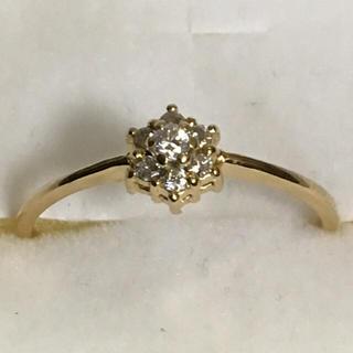 18K 0.1ctダイヤモンドリング(リング(指輪))