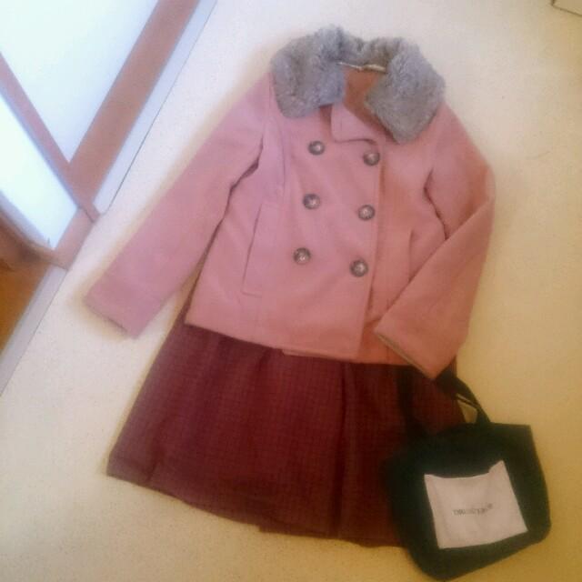 ピンクピーコート レディースのジャケット/アウター(ピーコート)の商品写真
