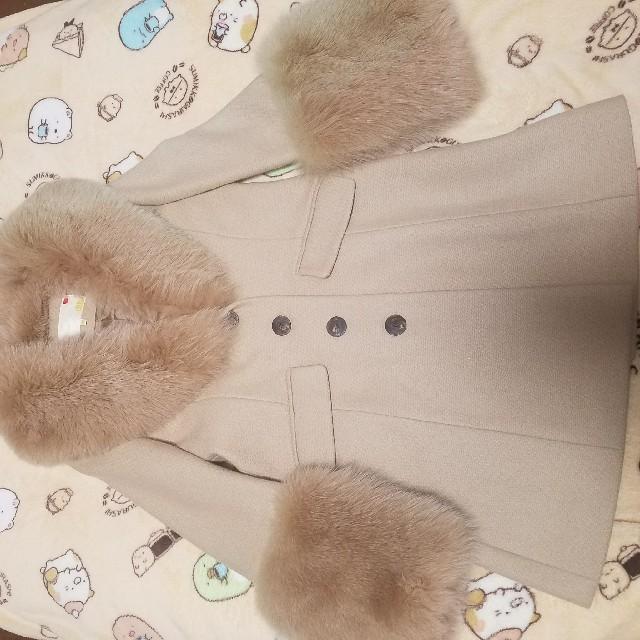 rich(リッチ)のrichフォックスファーアンゴラコート♡ベージュリアルファー♡スナイデル系 レディースのジャケット/アウター(毛皮/ファーコート)の商品写真
