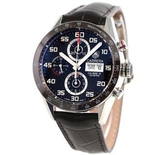 タグホイヤー(TAG Heuer)のTAG Heuer カレラ クロノグラフ 腕時計 自動巻 革ベルト (レザーベルト)