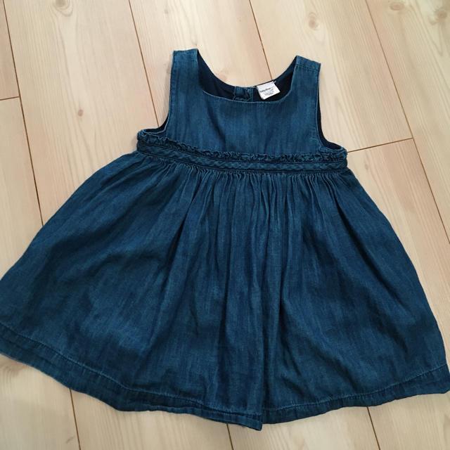 babyGAP(ベビーギャップ)のデニム ワンピース ベビー gap キッズ/ベビー/マタニティのベビー服(~85cm)(ワンピース)の商品写真