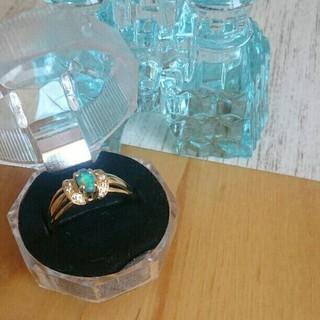 K18ブラックオパールダイヤモンドリング(リング(指輪))