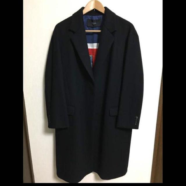 Paul Smith(ポールスミス)の極美品 16aw ポールスミス チェスターコート ブラック メンズのジャケット/アウター(ステンカラーコート)の商品写真
