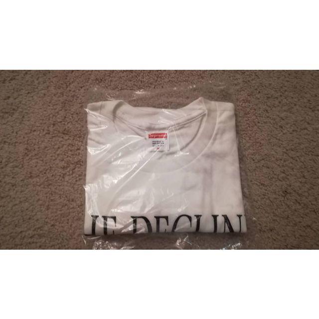 Supreme(シュプリーム)のSMAPER様専用★ SUPREME Tシャツ ホワイト 白 M 17/W メンズのトップス(Tシャツ/カットソー(半袖/袖なし))の商品写真