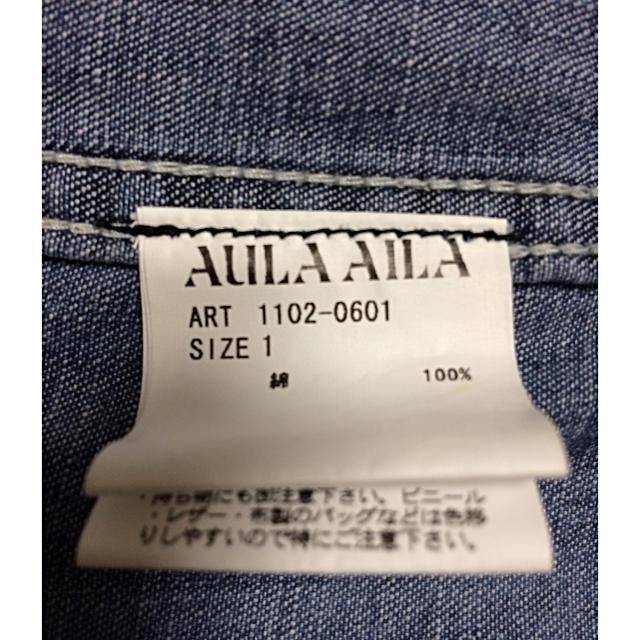 AULA AILA(アウラアイラ)のAULA AILA デニム サロペット レディースのパンツ(デニム/ジーンズ)の商品写真
