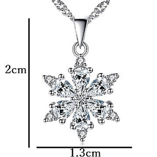 info for 00a3b 14080 冬に煌めきを 「雪の結晶」ネックレス Silver925  即買いOK
