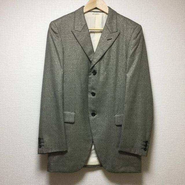 COMME des GARCONS HOMME PLUS(コムデギャルソンオムプリュス)の07SS ゴールドラメ 千鳥格子柄 セットアップ メンズのスーツ(セットアップ)の商品写真