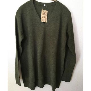 ムジルシリョウヒン(MUJI (無印良品))のくるりんこ様専用  MUJI  Vネックセーター(ニット/セーター)