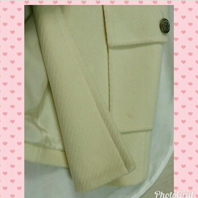 SHIPS(シップス)のオフホワイト ダッフルコート ピーコート ザラ GAP ホワイト  コート レディースのジャケット/アウター(ピーコート)の商品写真