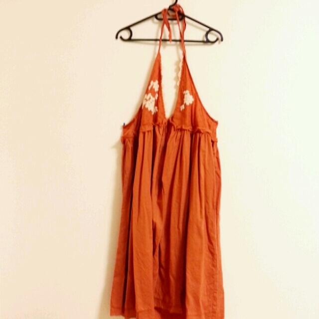 w closet(ダブルクローゼット)の首かけワンピース レディースのワンピース(ひざ丈ワンピース)の商品写真