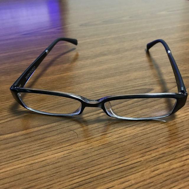 伊達メガネ zoff 黒ぶち メンズのファッション小物(サングラス/メガネ)の商品写真