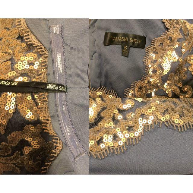 TADASHI SHOJI(タダシショウジ)の【新品】Tadashi Shoji スパンコール&刺繍ワンピ 希少カラー6 レディースのワンピース(ひざ丈ワンピース)の商品写真