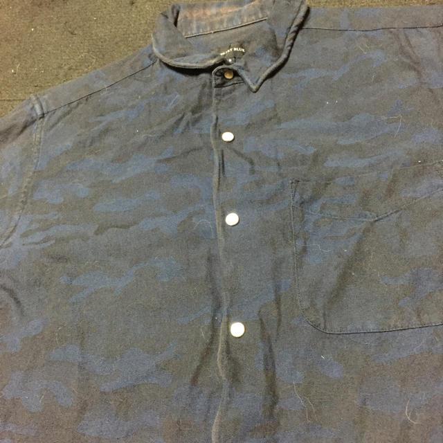 SHIPS JET BLUE(シップスジェットブルー)のSHIPS JET BLUE 5分袖シャツ Sサイズ カモフラ  メンズのトップス(Tシャツ/カットソー(半袖/袖なし))の商品写真