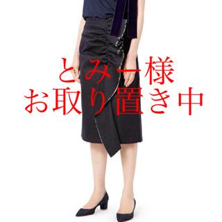 ルシェルブルー(LE CIEL BLEU)のルシェルブルー ラッフル デニム ペンシルスカート 試着のみ(ひざ丈スカート)