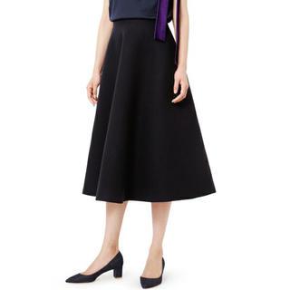 ルシェルブルー(LE CIEL BLEU)の新品同様❤️即完売品❤️ルシェルブルー Wメルトンテントスカート❤️黒 38❤️(ひざ丈スカート)