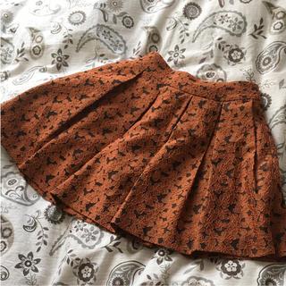 ローリーズファーム(LOWRYS FARM)のローリーズファーム オレンジ花柄スカート(ミニスカート)