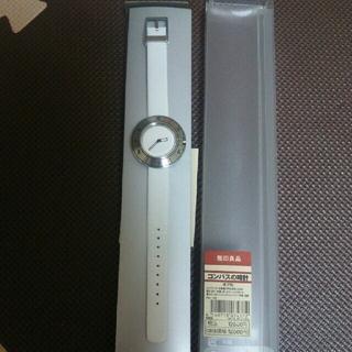 ムジルシリョウヒン(MUJI (無印良品))の無印良品  コンパスの時計  オフ白(腕時計)