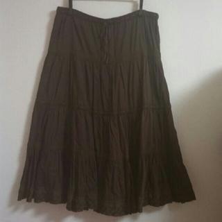 コットン刺繍スカート(ロングスカート)