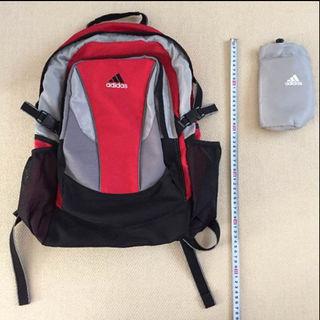 アディダス(adidas)のadidas リュック 赤 男の子 大容量 ペットボトルホルダー(バッグパック/リュック)