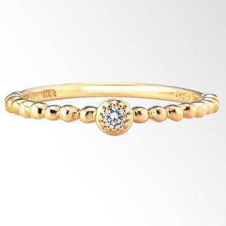 スタージュエリー(STAR JEWELRY)のスタージュエリー k18  ダイヤ0.03ct ピンキーリング 1号(リング(指輪))