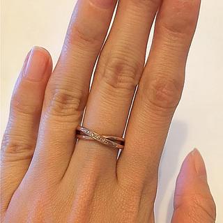 アーカー(AHKAH)のK10 ダイヤモンド リング(リング(指輪))