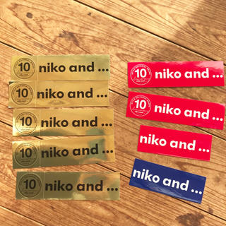 ニコアンド(niko and...)のniko and...  ノベルティ ステッカー 9枚セット(しおり/ステッカー)
