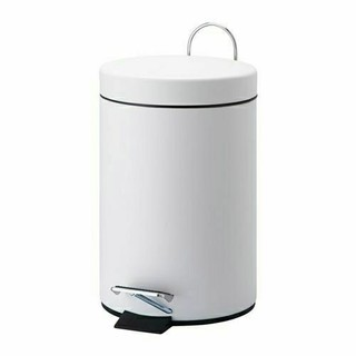 イケア(IKEA)のIKEA ペダル式ゴミ箱, ホワイト,3 l(ごみ箱)