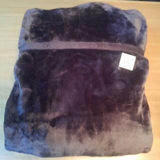 ムジルシリョウヒン(MUJI (無印良品))の送料込み 未使用 無印良品 あたたかファイバー厚手毛布 ブラウン(毛布)