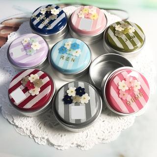 選べる8カラー☆名前入り!flowerブーケのアルミ缶ピルケース(雑貨)