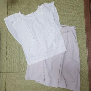 ジーユー(GU)の美品 上下セット トップス スカート(スーツ)