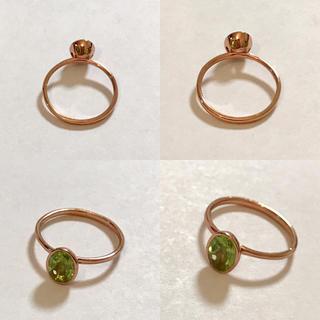 ペリドットのリング 3号♡カラーストーンジュエリー(リング(指輪))