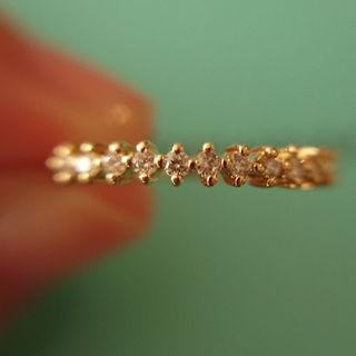 【みさと様専用】K18 ダイヤ0.2 エタニティリング(リング(指輪))