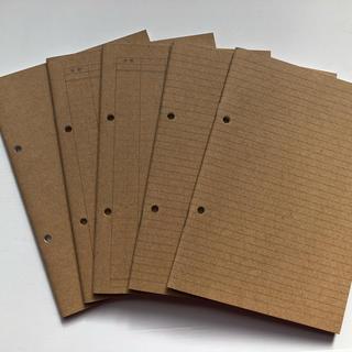 ムジルシリョウヒン(MUJI (無印良品))の無印良品  A5サイズノート5冊セット(ノート/メモ帳/ふせん)