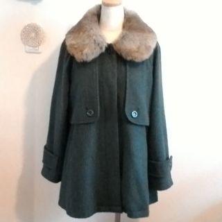 ナチュラルクチュール(natural couture)の深いグリーンのクラシカルなコート♡(ロングコート)