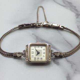 アガット(agete)のお値下げ アガット 時計 10金 ダイヤモンド(腕時計)