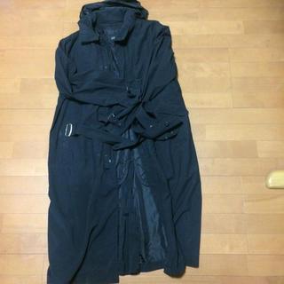 アレグリ(allegri)の防水防寒薄型ロングコートフード付き(ステンカラーコート)