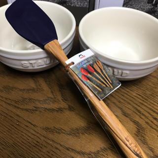 ストウブ(STAUB)の【新品】ストウブ スパチュラ Sサイズ ブルー(調理道具/製菓道具)