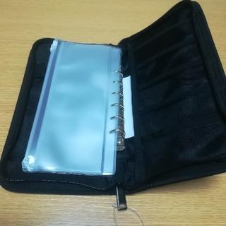 ムジルシリョウヒン(MUJI (無印良品))の無印良品 パスポートケース クリアポケット付き 黒 ブラック(ポーチ)