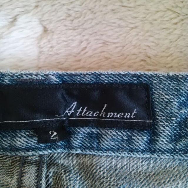 ATTACHIMENT(アタッチメント)のレア商品★アタッチメント  Attachment★柿渋染めジーンズ  2 メンズのパンツ(デニム/ジーンズ)の商品写真