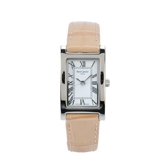 Pierre Lannier(ピエールラニエ)の腕時計 クロコ型押しベージュ レディースのファッション小物(腕時計)の商品写真