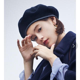 マーキュリーデュオ(MERCURYDUO)の新品 MERCURYDUO  ベロアパイピングフェイクレザーベレー(ハンチング/ベレー帽)