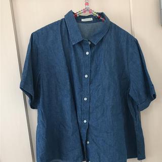 ジーユー(GU)の GUのダンガリーシャツ 半袖(シャツ/ブラウス(半袖/袖なし))