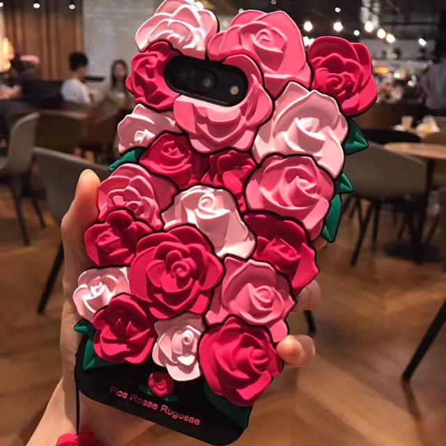 ストラップ付ローズケース for iPhoneの通販 by holiday's shop|ラクマ