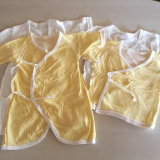 ニシマツヤ(西松屋)の新生児用⭐️長肌着2枚&短肌着2枚セット(肌着/下着)