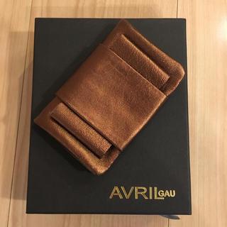 アヴリルガウ(AVRIL GAU)のAVRIL GAU カードケース ブロンズ 新品未使用(名刺入れ/定期入れ)