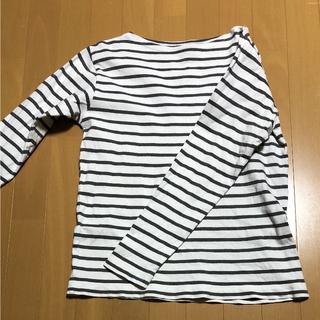 ムジルシリョウヒン(MUJI (無印良品))の☆無印良品 Sサイズ ボーダーカットソー☆(Tシャツ/カットソー(七分/長袖))