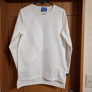 アディダス(adidas)のadidas EQT ADV LONG SLEEVE TEE ホワイト Lサイズ(Tシャツ/カットソー(七分/長袖))