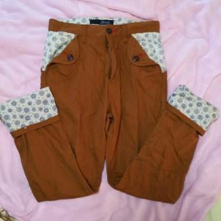 シマムラ(しまむら)のこれからの季節に♪美品!メンズ・ロールアップ可パンツ・ズボン・74センチ♪(ワークパンツ/カーゴパンツ)
